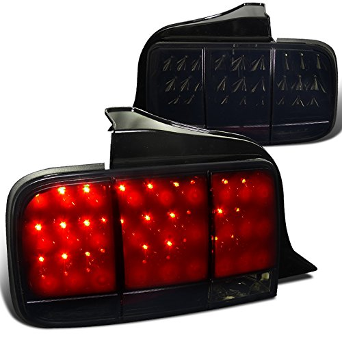 Spec-D Tuning LT-MST05BBLED-SQ-TM Spec-D Led Tail Lights Glossy Black Housing With Smoke -