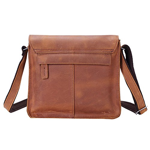 Satchel Small Briefcase Men Body Casual Leather Othilar Cross Bag Genuine xW8EnXv