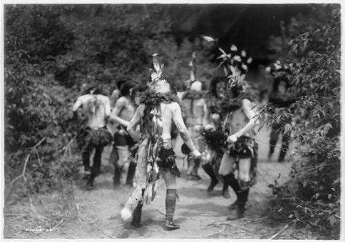 [Photo: Yebichai prayer,dance,costumes,spiritual,Navajo,Indians,Native Americans,c1906] (Dance Costumes Online America)