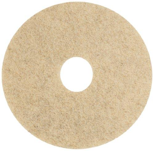 (Glit 20400 TK Polyester Blend Jackeroo Natural Hair Floor Pad, Synthetic Blend Resin, Kaolin Grit, 17