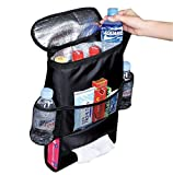 Door Seat Back Organizers Best Deals - Deler Insulated Auto Car Seat Back Organizer Bottle Drinks Holder / Multi-Pockets Travel Storage Bag / Car Seat Organizer for SUV, Trunk(Heat/Cool-Preservation)
