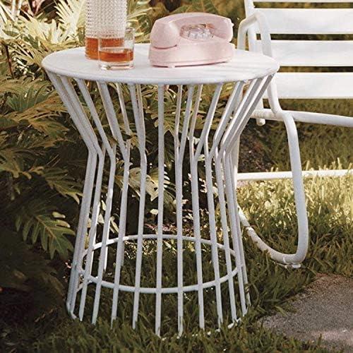 Novogratz 88068WHT1E Poolside Roberta Outdoor Side Table