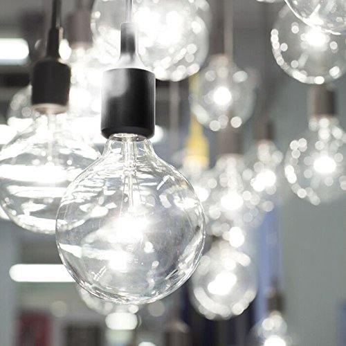 2 Pack Plug-In Pendant Light, 16.4Ft Vintage Industrial Edison Style One-Light Socket E26/E27 Silica Gel Base Black Round Hanging Light Cord with On/Off Switch (2 Pack) by HESSION (Image #3)