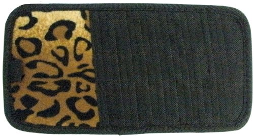 Tan Leopard Animal Print 10 Cd Dvd Car Visor Organizer