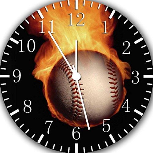 - Borderless Baseball Frameless Wall Clock X64 Nice for Decor Or Gifts