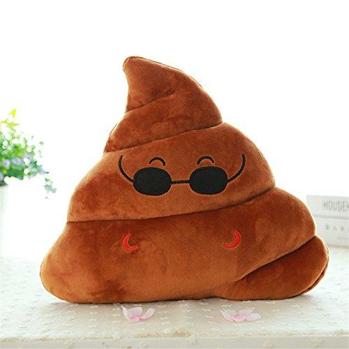Gome-z Mini Emoji Pillow Cushion Poop Shape Pillow Doll Toy Throw Pillow Amusing emotion Poo Cushion almofadas