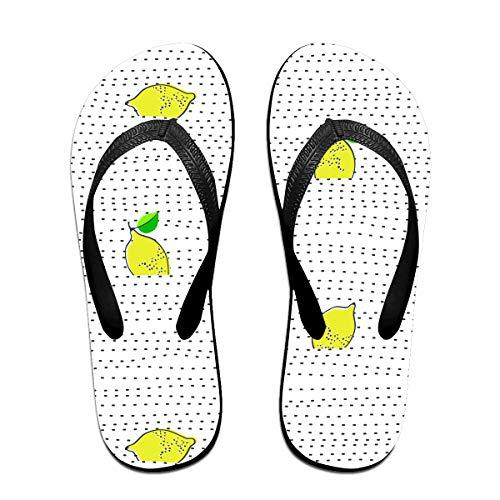 Unisex Lemon Juicy Fruit Flip-Flop, Waterproof Beach Slippers For Womens And Mens