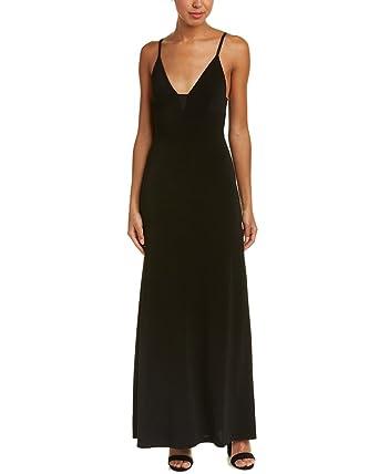 alice + olivia Womens Devlin Maxi Dress, 6, Black at Amazon Women\'s ...