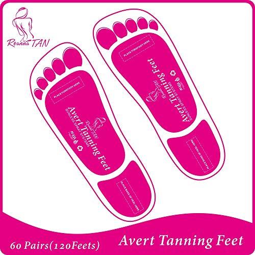 Economy 60 Pairs (120 feets) Pink Spray Tanning Feet Stick Pads; Avert Tanning Feet