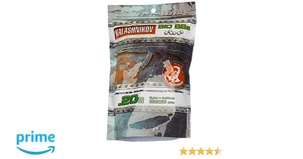 Kalashnikov - Balines biodegradables para pistola de bolas (3200 unidades, 0,20 g): Amazon.es: Deportes y aire libre