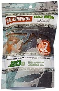 Kalashnikov Balines biodegradables para pistola de bolas (3200 unidades, 0,20 g)
