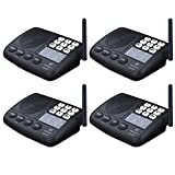 Hosmart 1/2 Mile LONG RANGE 7-Channel Security Wireless Intercom System for Home or Office (2017 New vesion)(4 Stations)