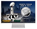 NFL Super Bowl XLV Silver Flip Coin Card