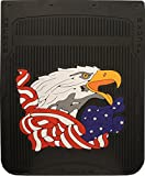 mr dc Black 24'' x 30'' Patriotic American Eagle Fiberglass Reinforced Rubber Semi Truck Mud Flaps- Pair