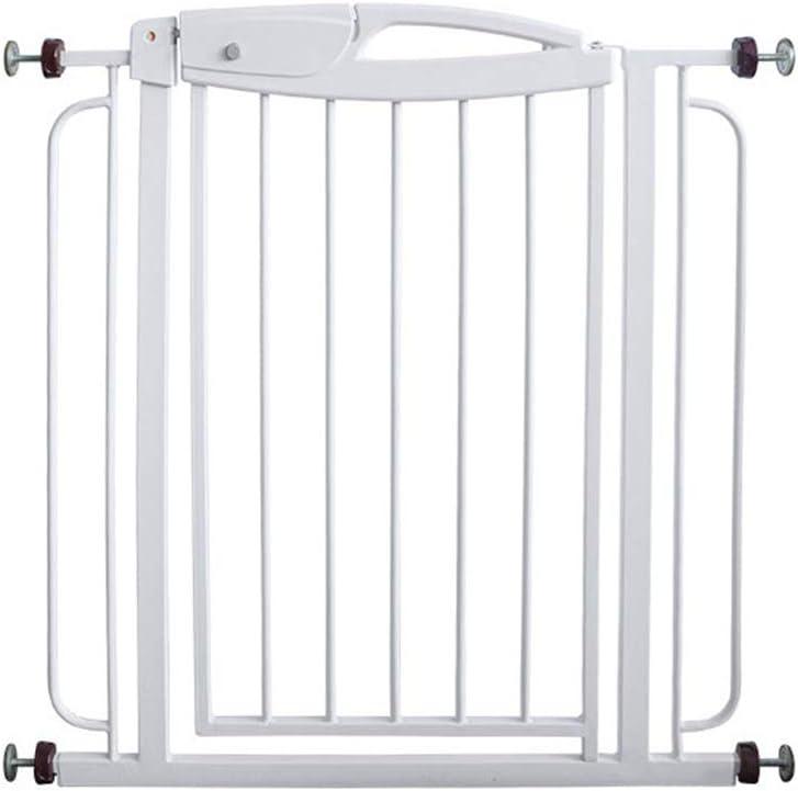 GFYWZ Cierre automático Puerta de la Escalera, Barrera de Seguridad retráctil Puerta Separador de Escalera para Perro Mascota bebé niños Blanco,74cm~140cm: Amazon.es: Hogar