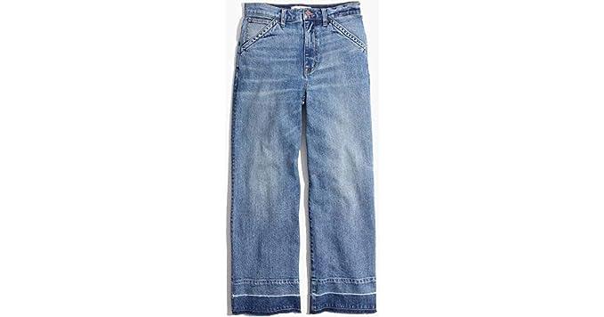 909202cef2cc3 Madewell Wide Leg Crop Jeans - Drop Hem Edition at Amazon Women s ...