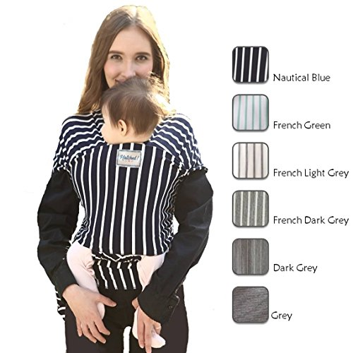 Hatched Soft Breathable Natural Cotton Baby Sling Wrap Carrier