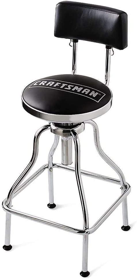 Craftsman Adjustable Hydraulic Seat Stool, Black