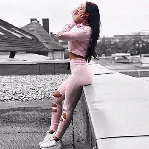 Han Shi Pants, Fashion Women High Waist Gym Yoga Fitness Leggings Athletic Sports Trouser
