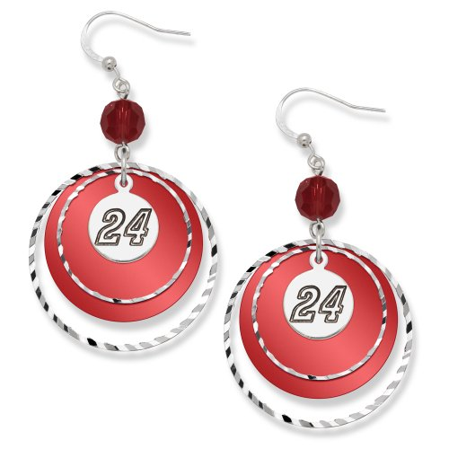 NASCAR Jeff Gordon #24 LogoArt Game Day Earrings