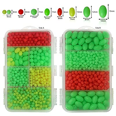 Shelure Fishing Floating Beads Hard Plastic Fishing Lures Bait Tackle Tools Eggs 1000piece in Box