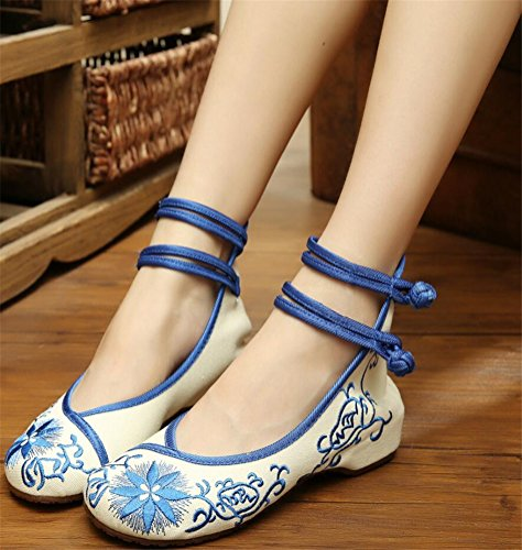 Handmade For Loafer Women White SATUKI Flat Shoes Chinese Style Casual Knot Embroidered Shoes Off 0fxqaw6