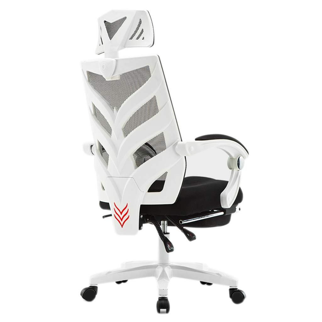 Stuhl Computer Stuhl Ergonomischer Bürostuhl Home Sitz Liegestuhl Drehstuhl Spiel Esports Stuhl Geschenk (Color : White, Size : 111 * 64CM)