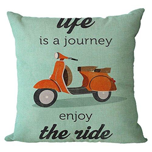 Nunubee Cotton Linen Pillow Covers 18 x 18 Pillowcases Throw Pillows Case Cushions For Sofa
