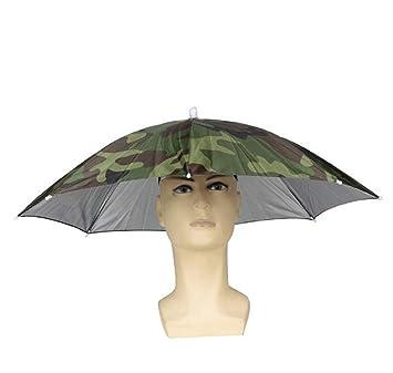 19e8f70da45 cheap4uk Golf Fishing Camping Hand Free Headwear Umbrella Hat Festival  Essential Ladies Mens Adult Fancy Dress