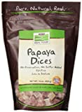 NOW Foods Papaya Dices, Fat Free, 1-Pound