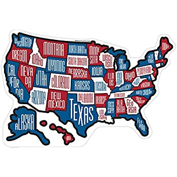 Amazon.com: RV State Stickers ~ Red White & Blue Camper Motor Home ...