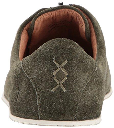 Womens Fashion Soft Sneaker Oiled Forest Suede Zip FRYE Low Lena T6waxdnIq