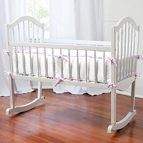 Carousel Designs Watercolor Floral Cradle Bumper