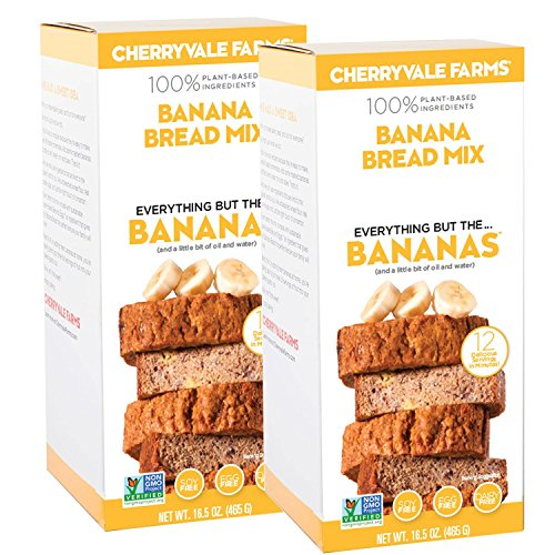 Organic Muffin Mix (Cherryvale Farms, Banana Bread Baking Mix, Everything But The Bananas, Add Fresh Produce, Tastes Homemade, Non-GMO, Vegan, 100% Plant-Based, 16.5 oz (pack of 2))