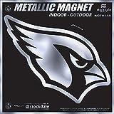 "Arizona Cardinals 6"" MAGNET Silver Metallic Style Vinyl Auto Home Football"