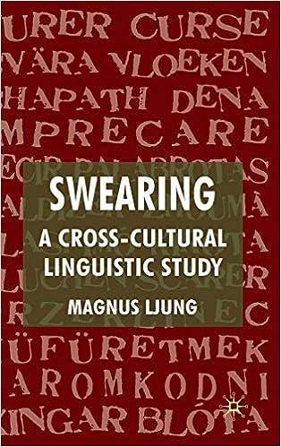 Swearing: A Cross-Cultural Linguistic Study by Magnus Ljung