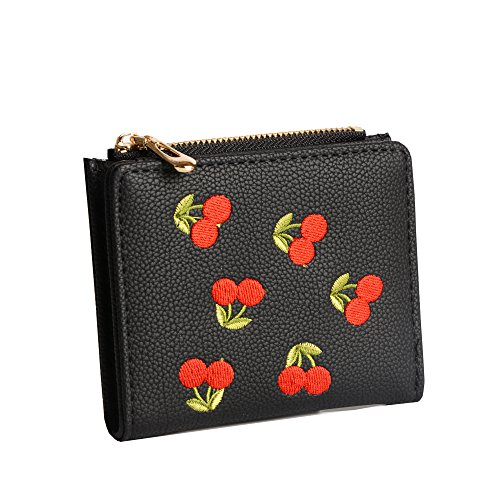 Nawoshow Women Cute Small Wallet Cherry Pattern Coin Purse Card Holder Clutch Bag (Small Cherry)
