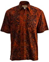 Geometric Sunset Cotton Batik Shirt By Johari West