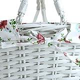 Wicker White Storage Gift Basket Willow Woven