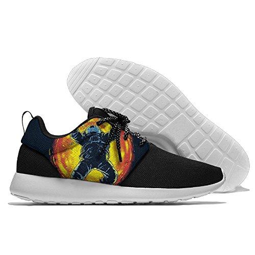Creamyard Hombres Arco Iris Astronauta Malla Transpirable Deportes De Ocio Zapatos De Impresión Suave Sole Deportes Zapatillas De Correr