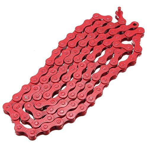 Alinementpai - Cadena de Bicicleta MTB para Bicicleta de Carretera, 1/2' x 1/8' 96 eslabones, Rojo