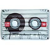 Loteli Classic Cassette Tape Pool Float: Large Clear Floats for Adults and Kids