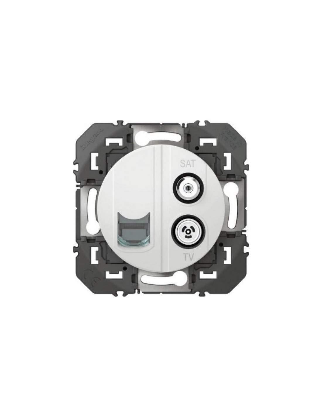 GRANA Anthracite PRISES Prise De Courant Interrupteur bascules Palpeur SAT Cat 6