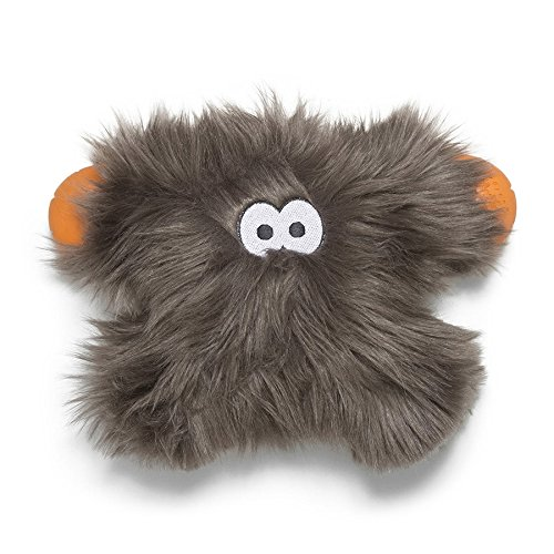 Image of West Paw Rowdies with HardyTex and Zogoflex, Durable Plush Dog Toy for Medium to Large Dogs, Jefferson, Pewter Fur