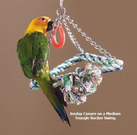 Paradise 8-Cotton Triangle Bird Swing, Medium, My Pet Supplies