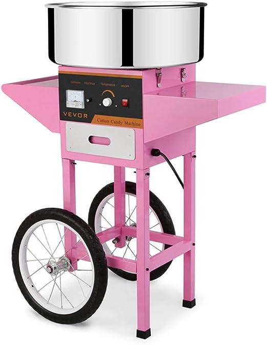 AIMCAE Comercial de la máquina de algodón de azúcar, cajones y empujadores, Adecuado para Todo Tipo de Festivales de Fiestas, Parque Infantil: Amazon.es