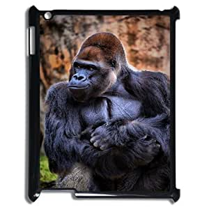 Customized Dual-Protective Case for Ipad 2,3,4, Black Gorilla Cover Case - HL-704148