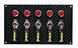 Moroso 74148 Gray/Black Fiber Design Switch Panel