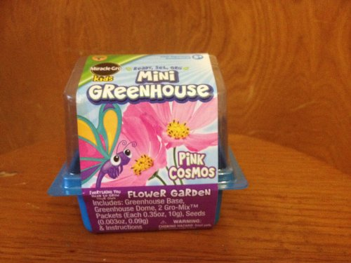 PEACHTREE PLAYTHINGS Miracle Gro Kids Mini Greenhouse Pin...