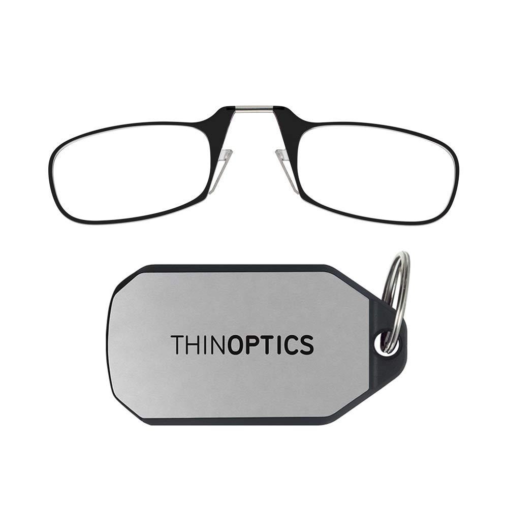 9a21e3d88c7e Amazon.com: ThinOptics Reading Glasses + Keychain Case | Black Frame, 1.00  Strength Readers: Shoes
